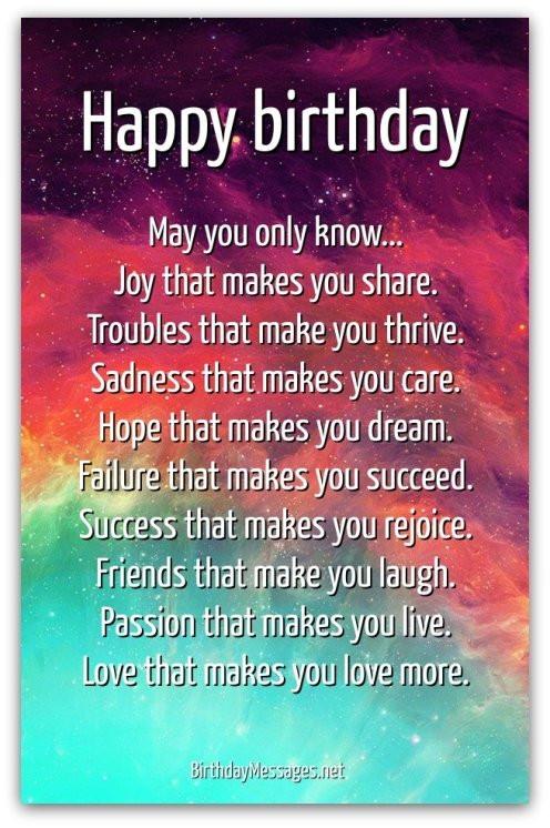 Birthday Wishes Poems  Inspirational Birthday Poems Page 2