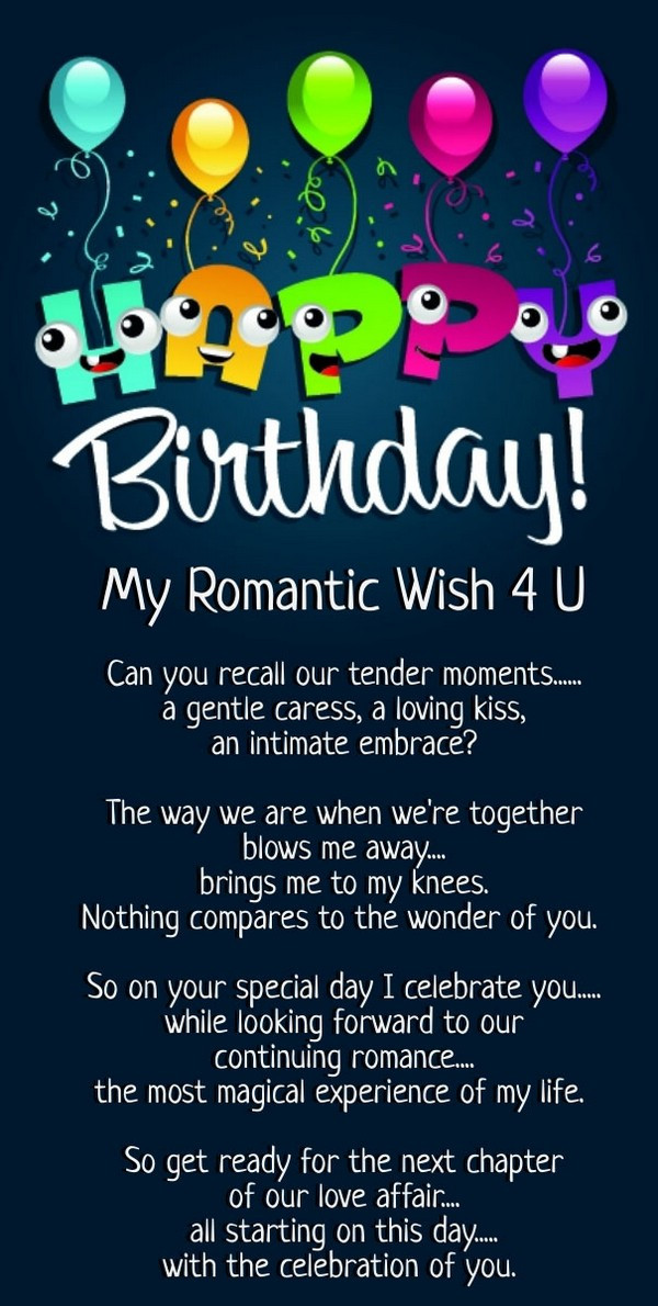 Birthday Wishes Poems  52 Best Happy Birthday Poems My Happy Birthday Wishes