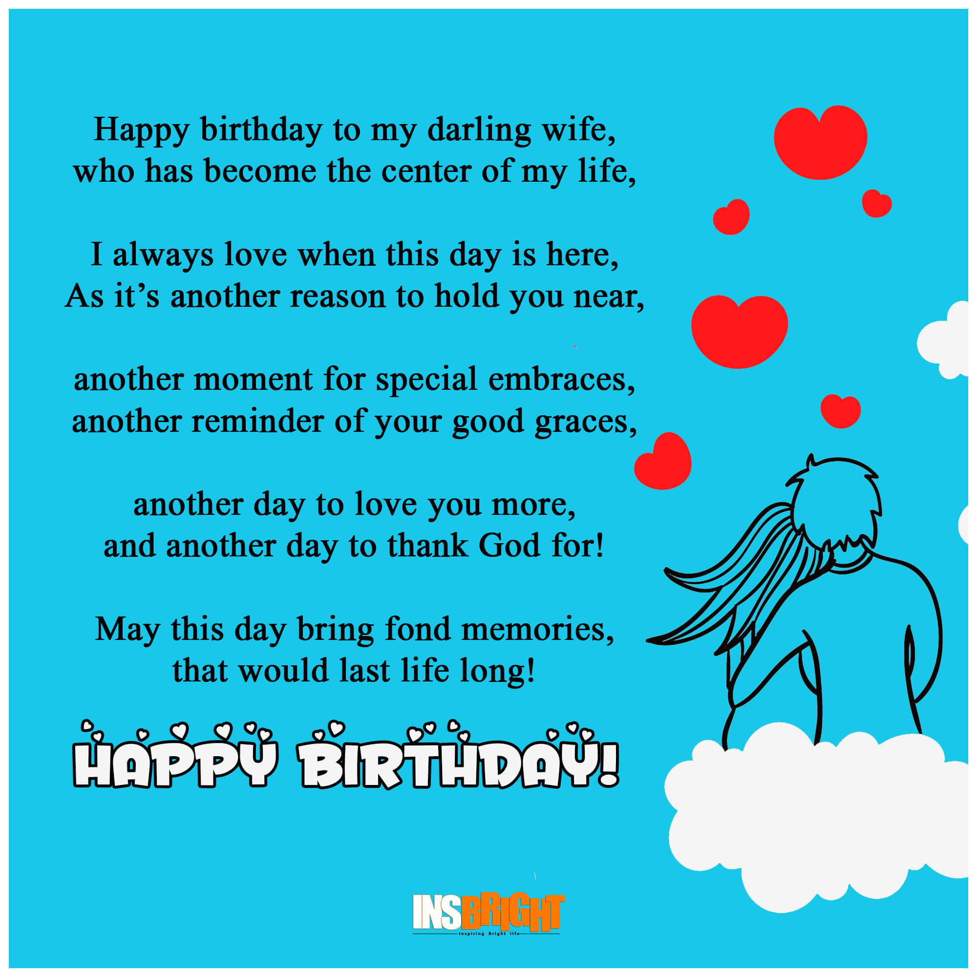 Birthday Wishes Poems  10 Romantic Happy Birthday Poems For Wife With Love From