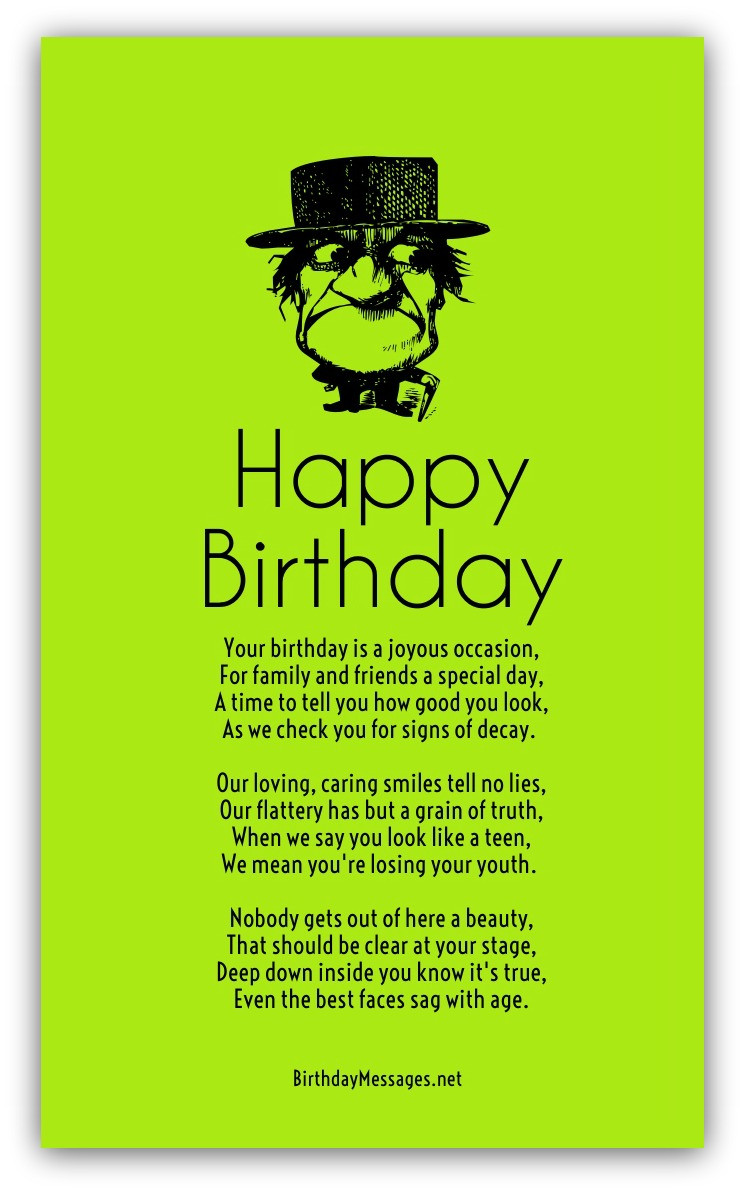 Birthday Wishes Poems  Funny Birthday Poems Page 2