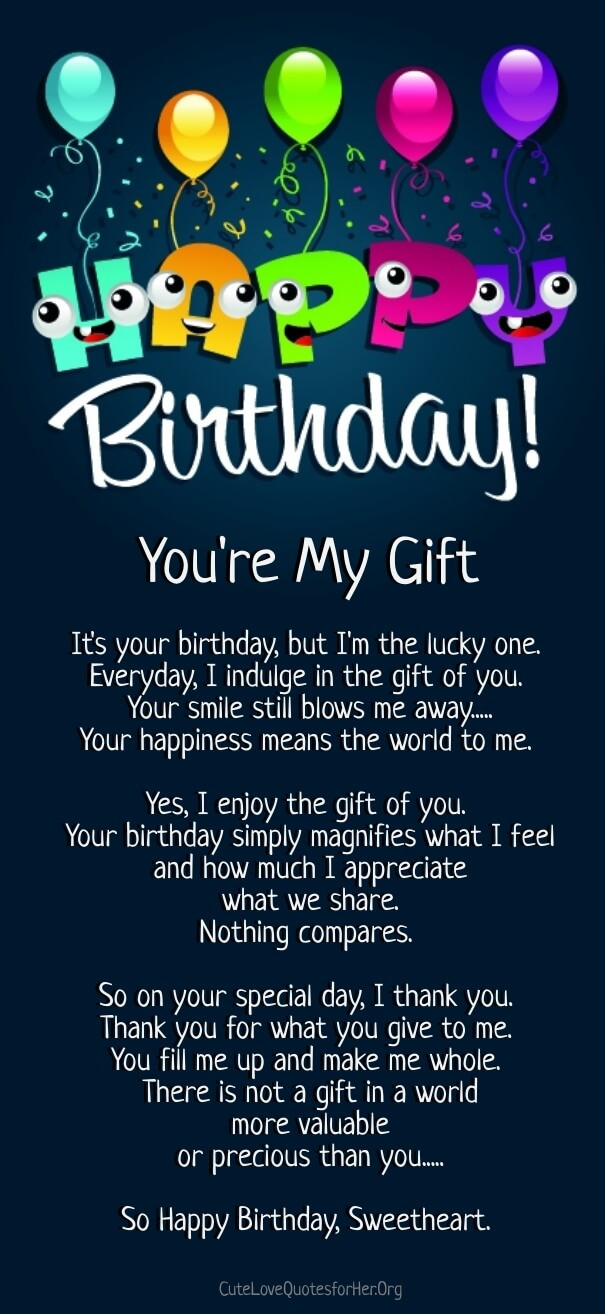 Birthday Wishes Poems  12 Happy Birthday Love Poems for Her & Him with