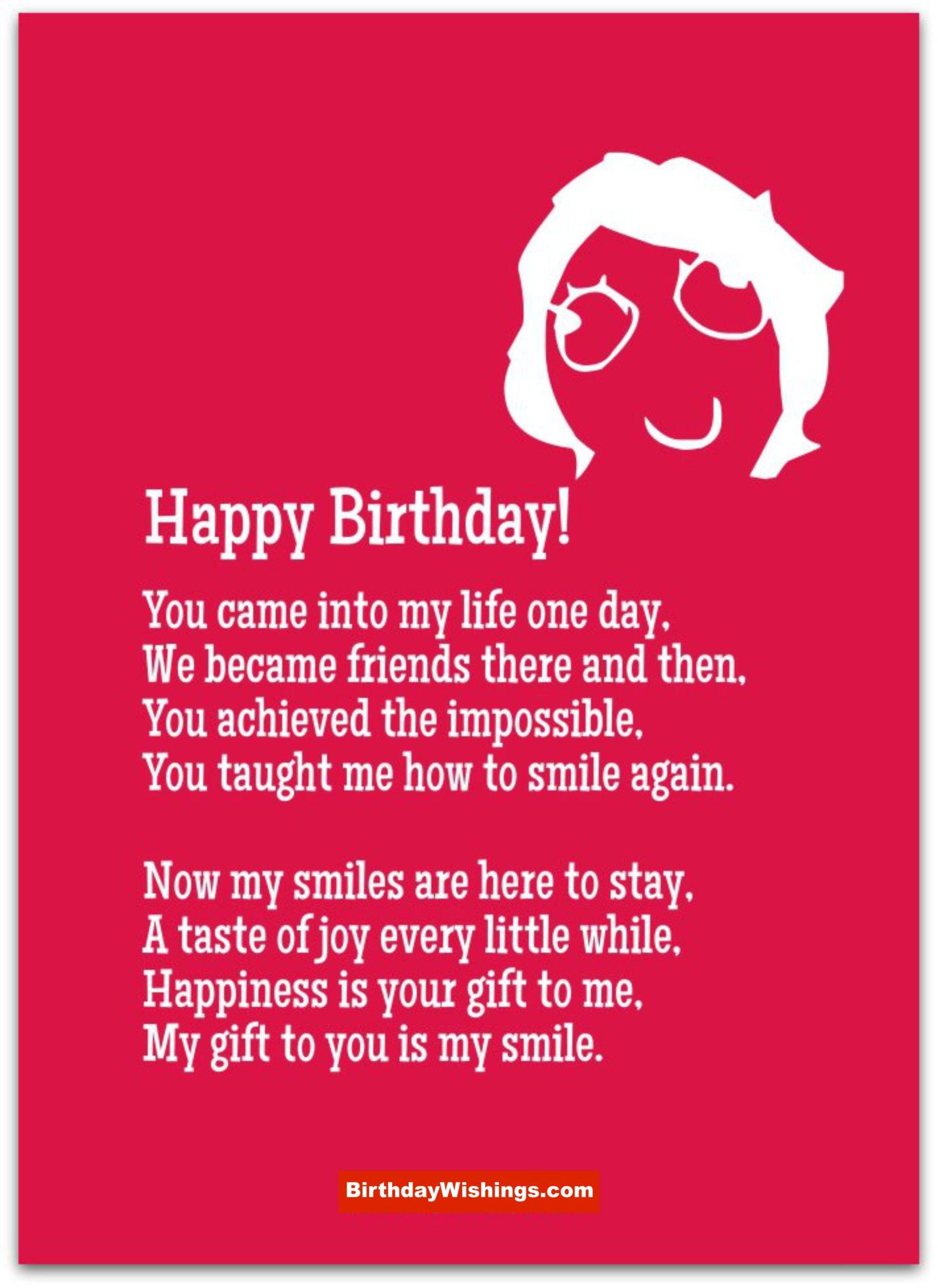 Birthday Wishes Poems  Birthday Poem For Best Friend