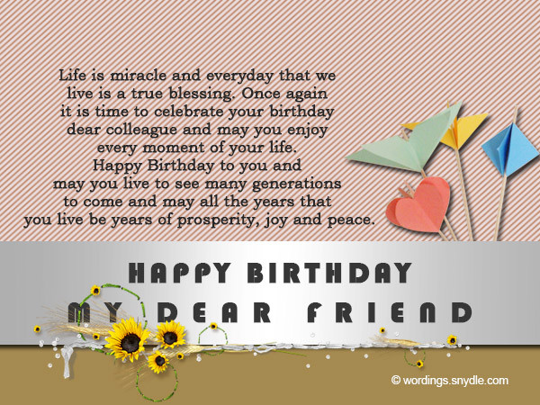 Birthday Wishes To Colleague  Birthday Messages for Colleague Wordings and Messages