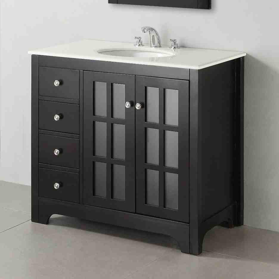 Black Bathroom Cabinet  Black Bathroom Floor Cabinet Home Furniture Design