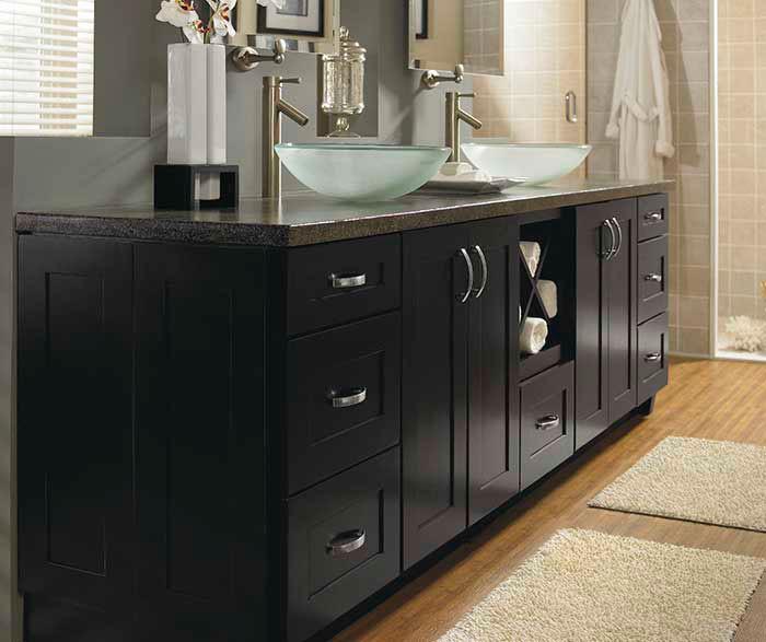 Black Bathroom Cabinet  Contemporary Black Bathroom Cabinets Schrock