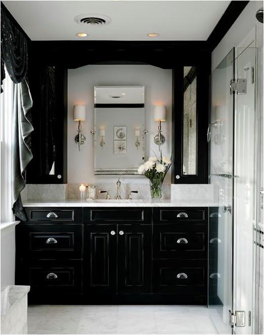 Black Bathroom Cabinet  Decorating with Black