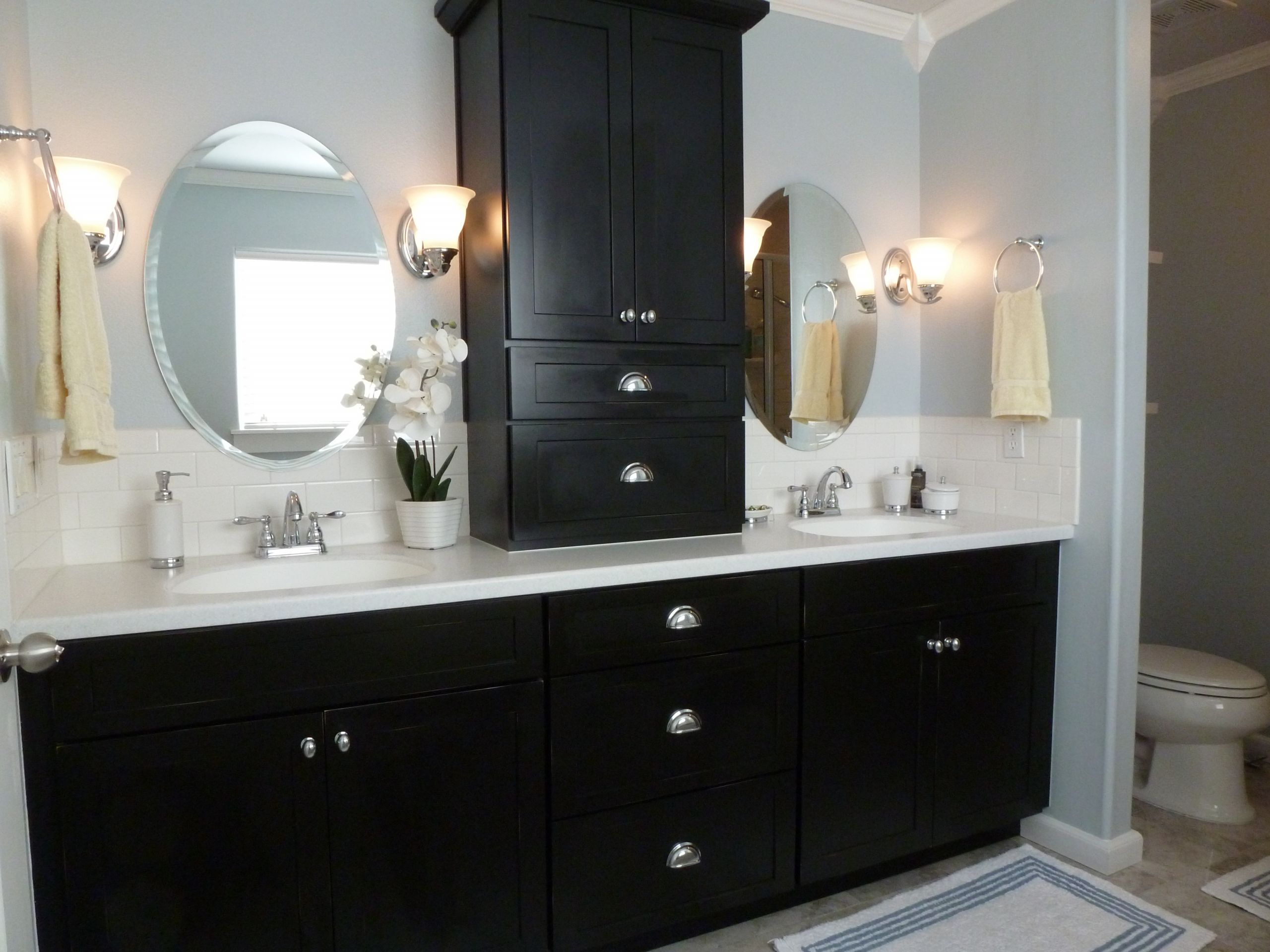 Black Bathroom Cabinet  How to design a luxury bathroom with black cabinets