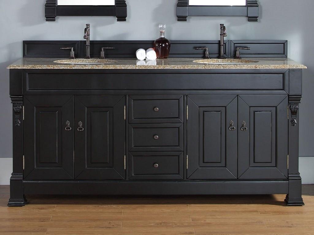 Black Bathroom Cabinet  Updating With Antique Bathroom Vanity Interior Design