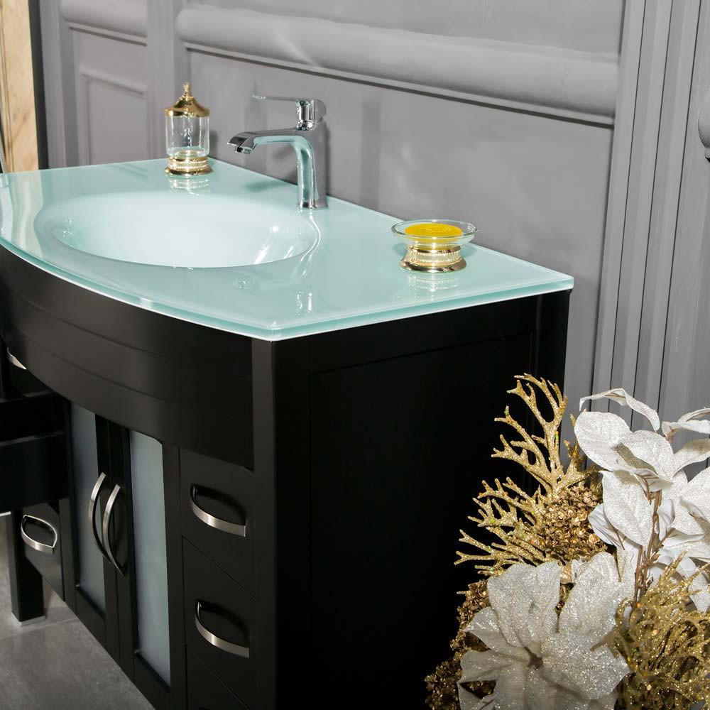 Black Bathroom Cabinet  Jersey City 42 inch Black Bathroom Cabinet