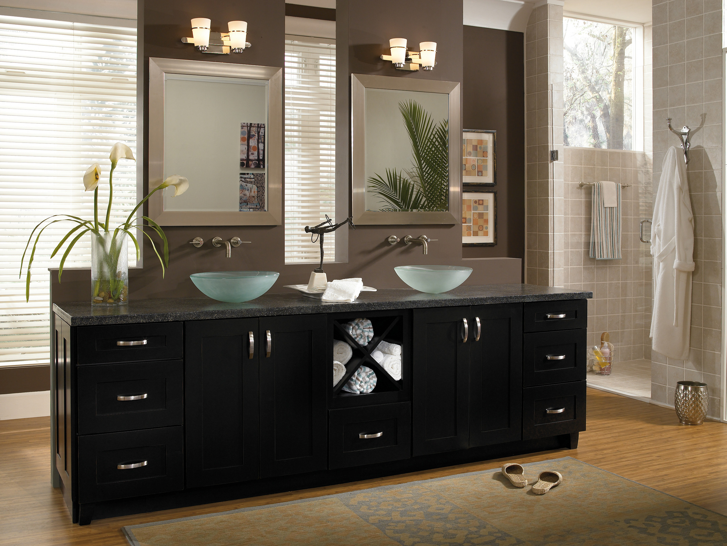 Black Bathroom Cabinet  Cabinetry Derry NH