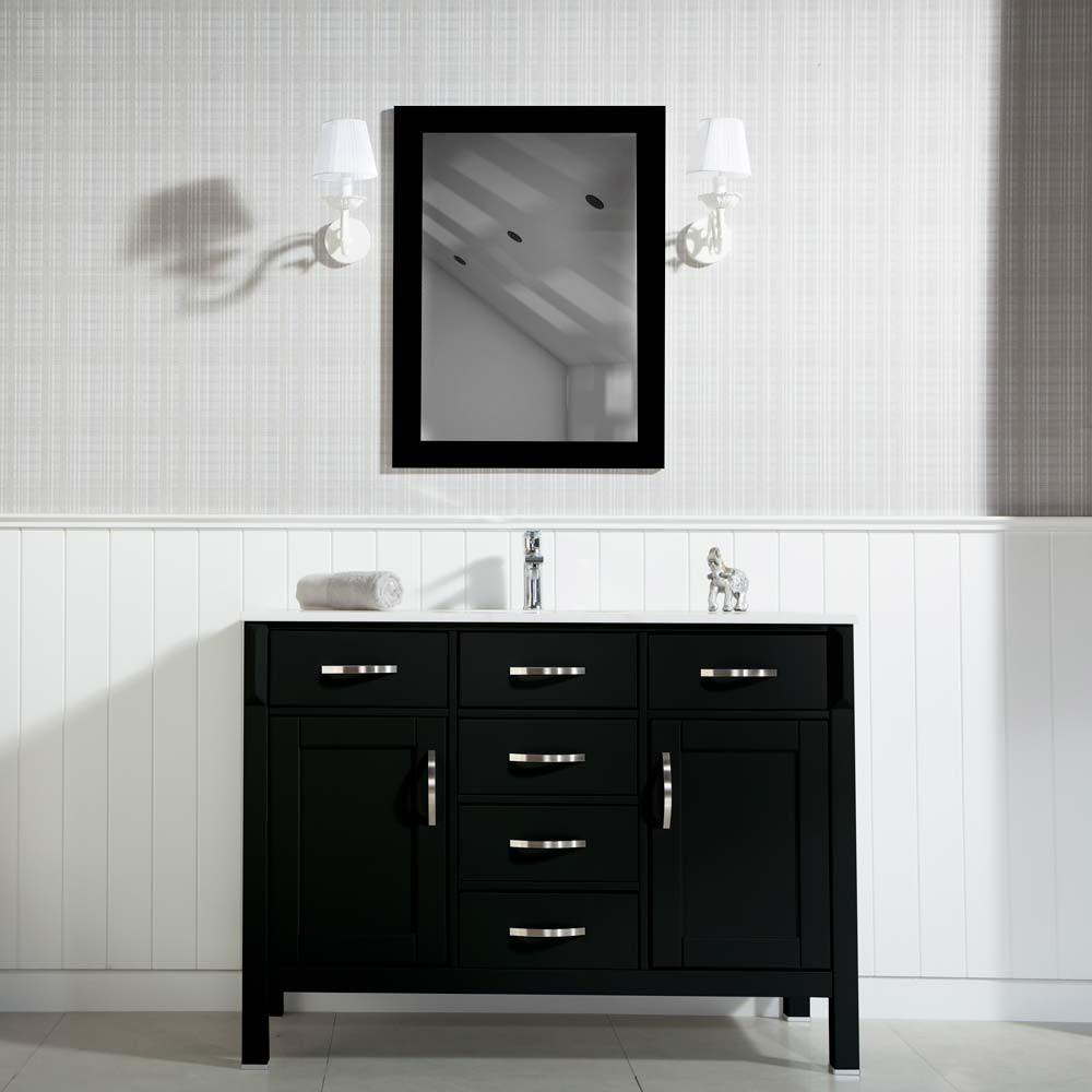 Black Bathroom Cabinet  Woodbridge 56 inch Black Bathroom Cabinet