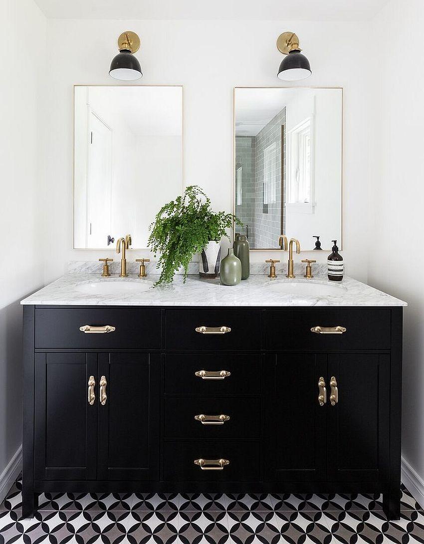 Black Bathroom Cabinet  20 Gorgeous Black Vanity Ideas for a Stylishly Unique Bathroom