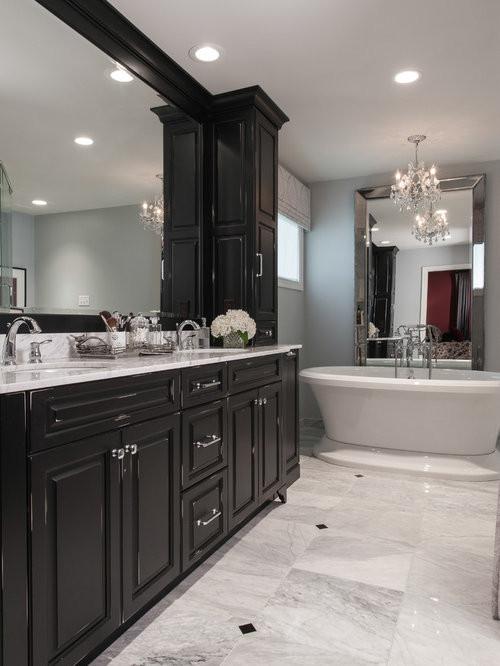 Black Bathroom Cabinet  Traditional Bath Design Ideas Remodel & Decor