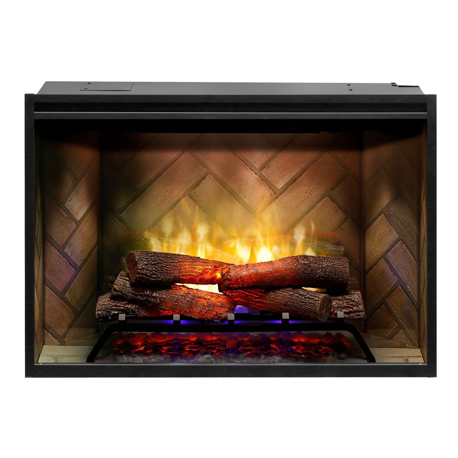 "Blue Electric Fireplace  Dimplex 36"" Revillusion Built In Electric Fireplace"