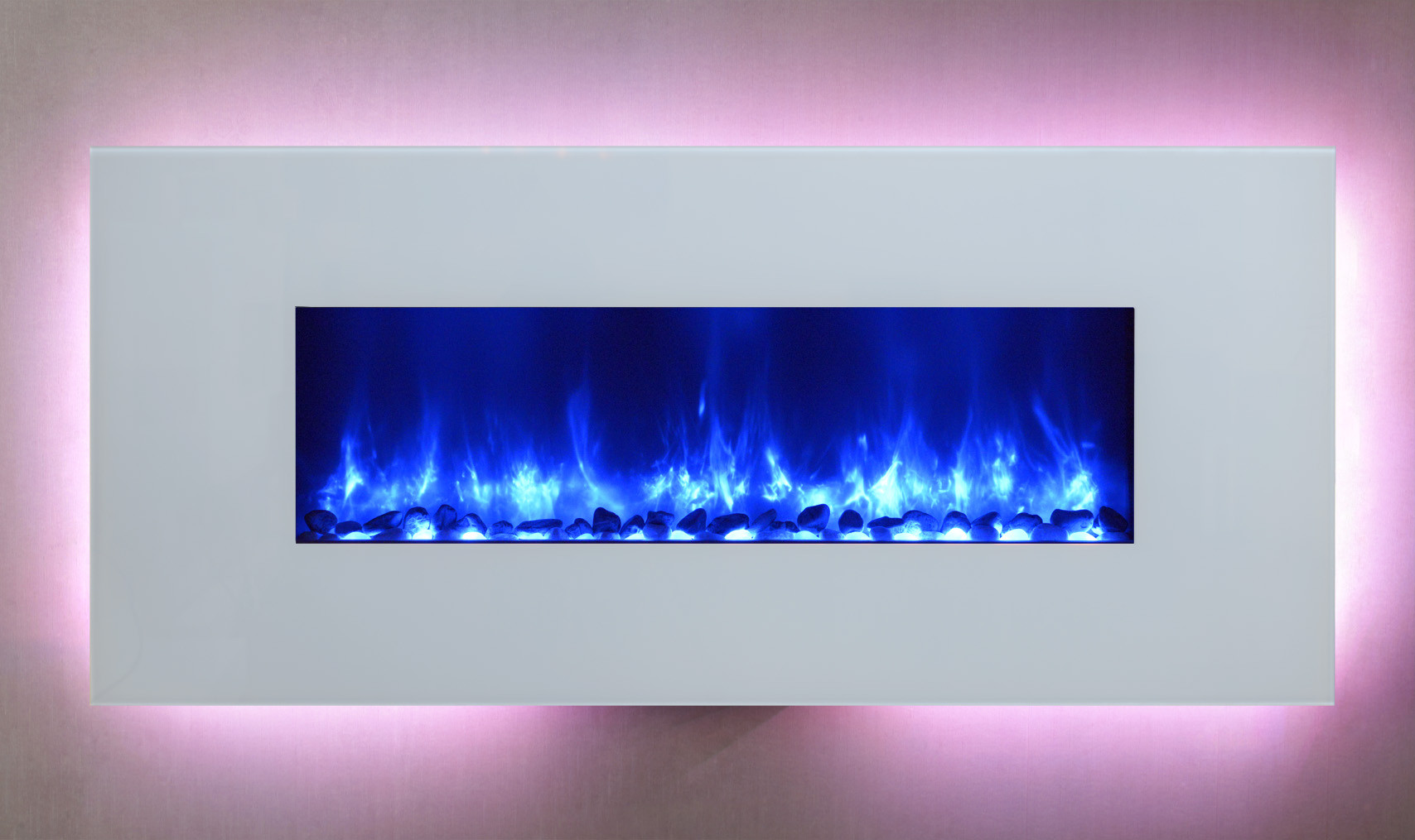 Blue Electric Fireplace  DYNASTY EF69 WGR Fireplaces