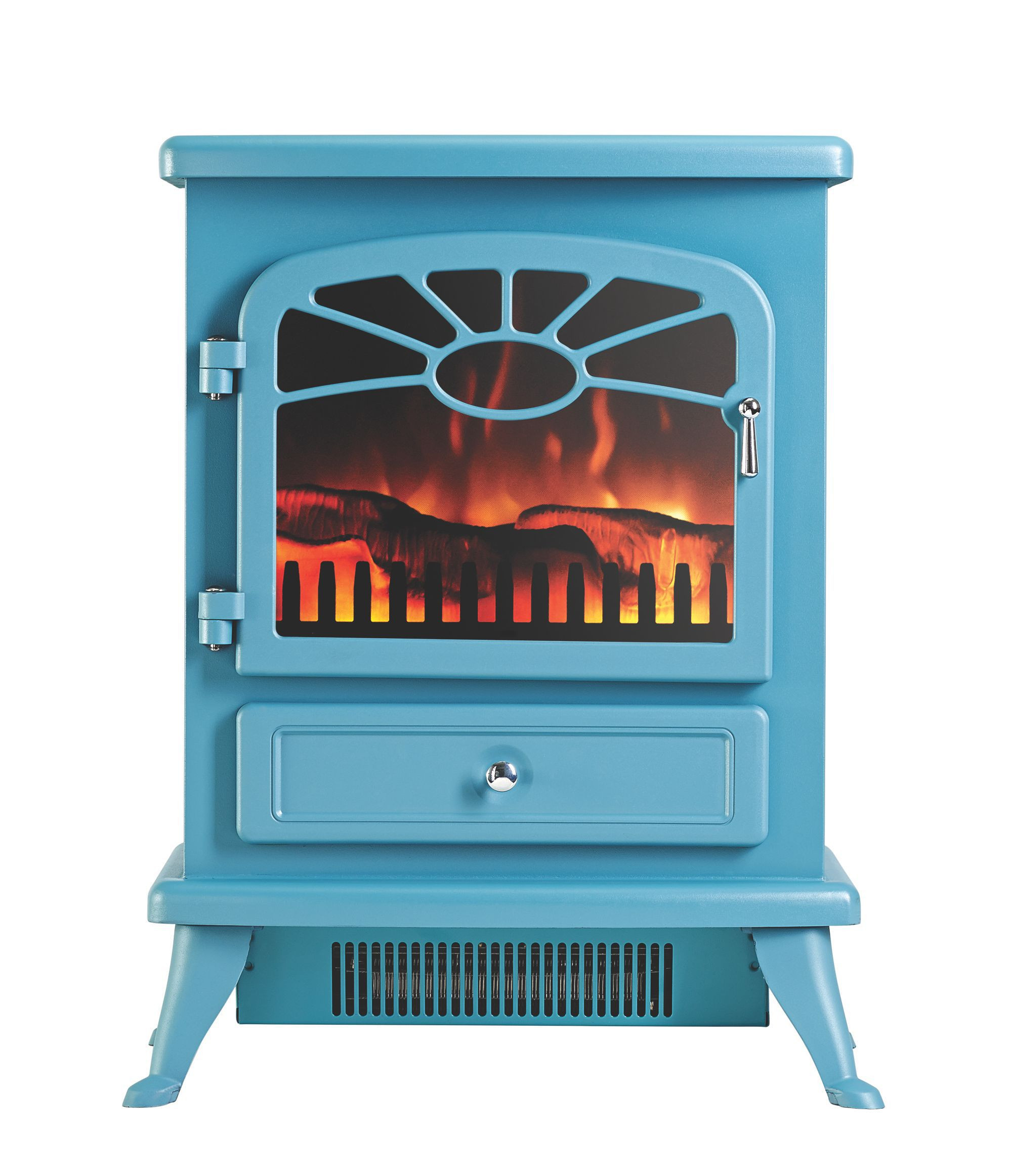 Blue Electric Fireplace  Focal Point ES 2000 Blue Electric Stove