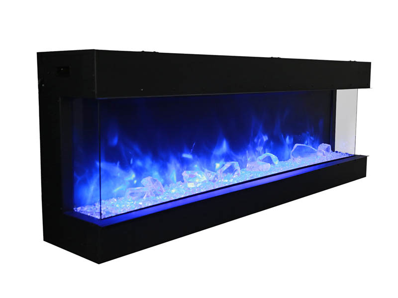 Blue Electric Fireplace  72 TRU VIEW XL – 3 Sided Electric Fireplace Amantii