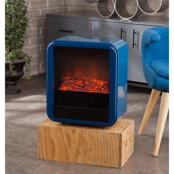 Blue Electric Fireplace  Holly & Martin Fasser Navy Blue Electric Fireplace