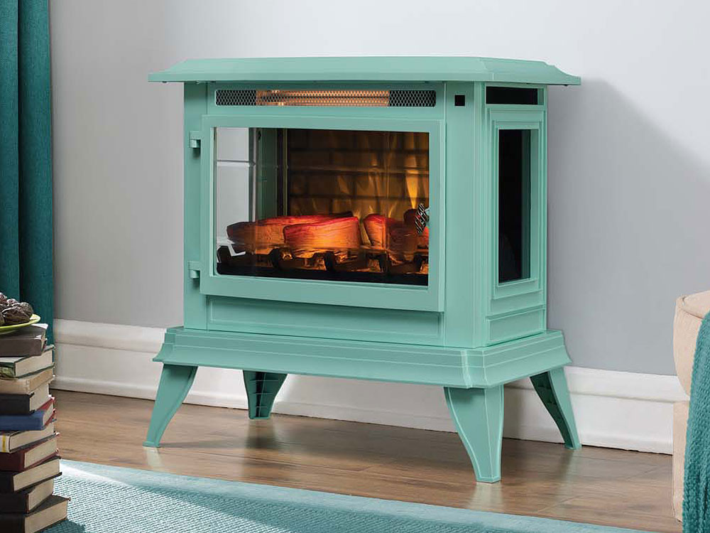 Blue Electric Fireplace  Duraflame 3D Ice Blue InfraGen Electric Fireplace Stove w