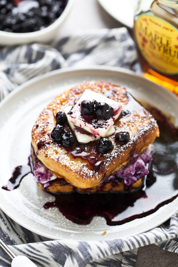 Blueberry Cream Cheese French Toast  Blueberry Cream Cheese Stuffed French Toast Cooking for