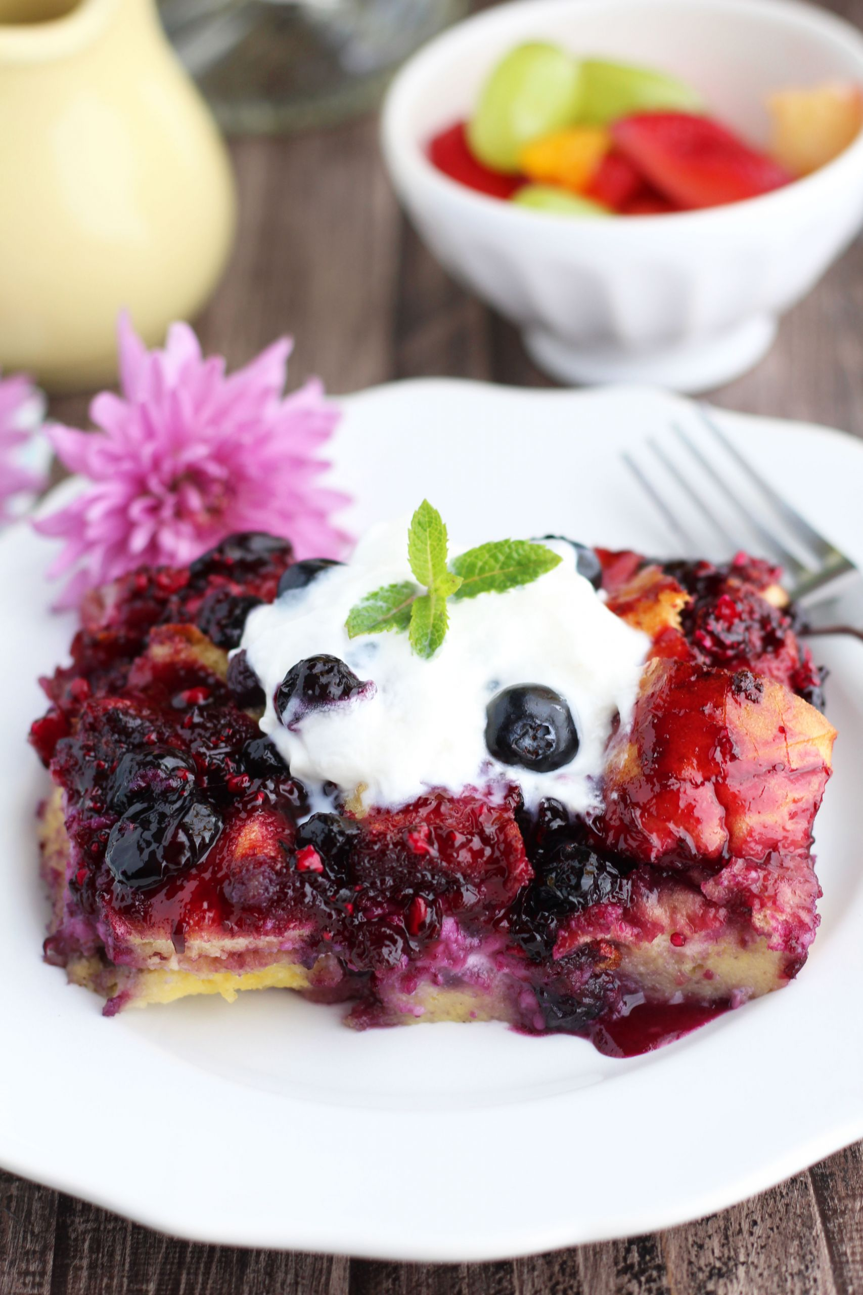 Blueberry Cream Cheese French Toast  Overnight Blueberry Cream Cheese French Toast
