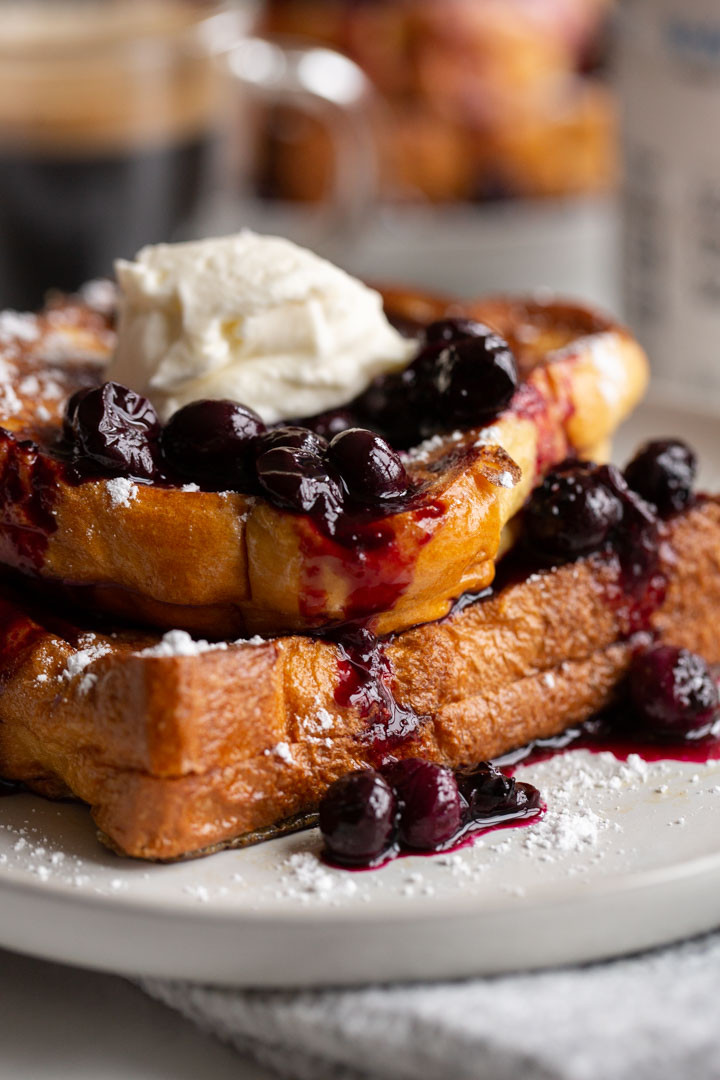 Blueberry Cream Cheese French Toast  Blueberry Cream Cheese Stuffed French Toast Away From