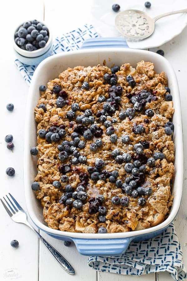 Blueberry Cream Cheese French Toast  Overnight Blueberry Cream Cheese French Toast Bake