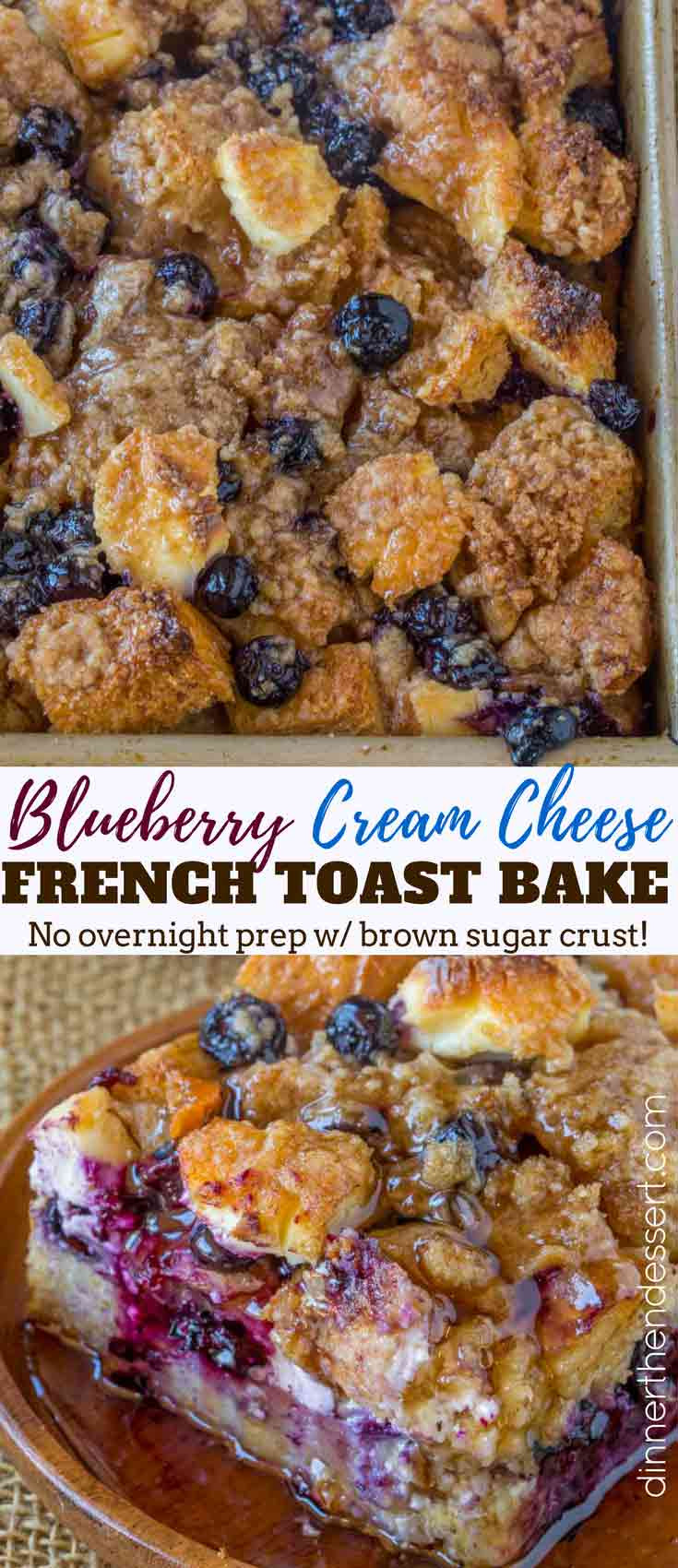 Blueberry Cream Cheese French Toast  Blueberry Cream Cheese French Toast Bake Dinner then