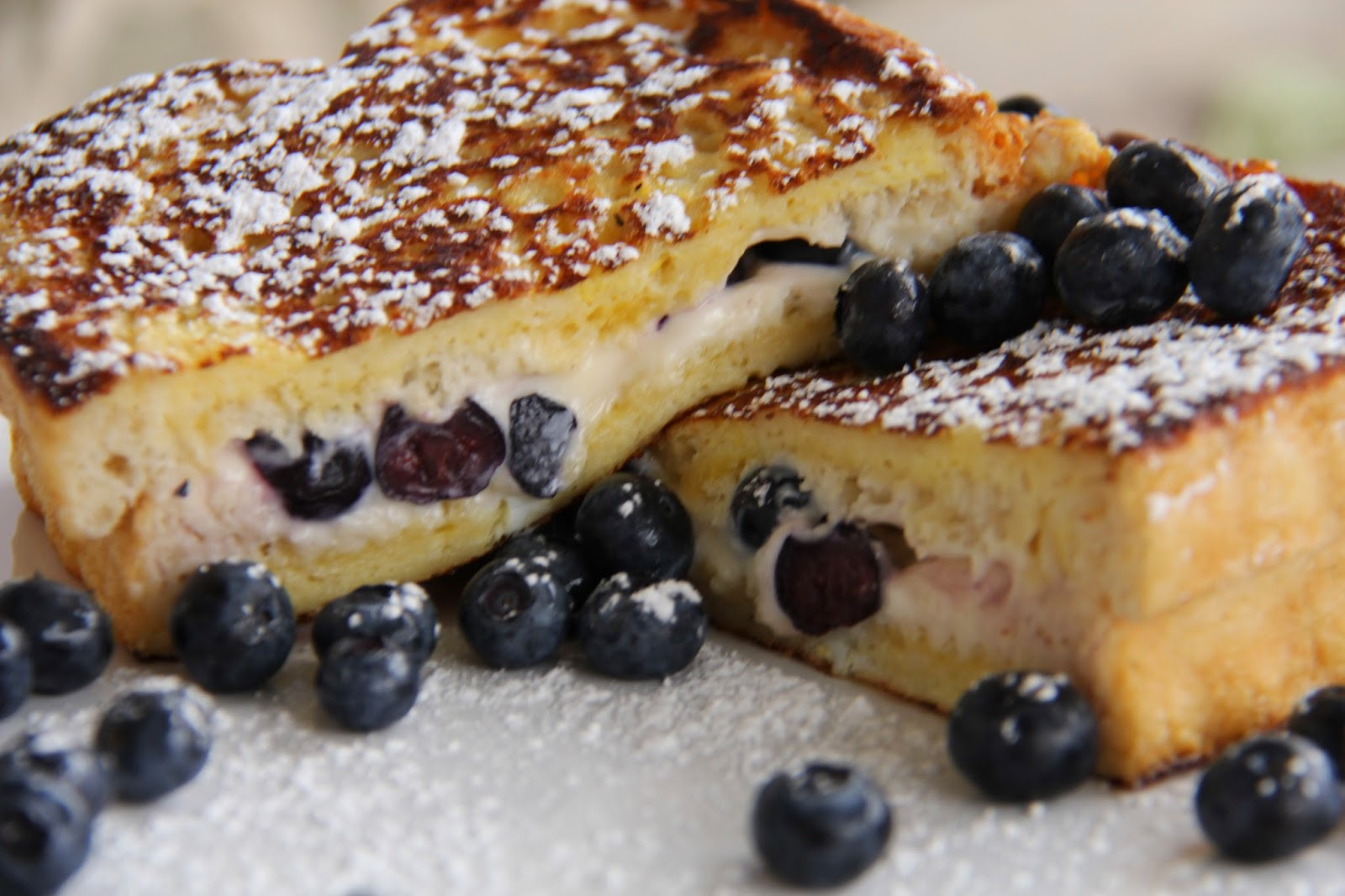 Blueberry Cream Cheese French Toast  Blueberry Cream Cheese Stuffed French Toast