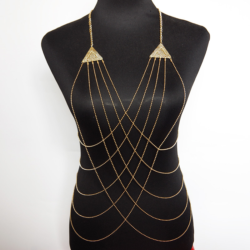 Body Chain Necklace  Body Chain Necklace Multilayer Necklaces&Pendants Female
