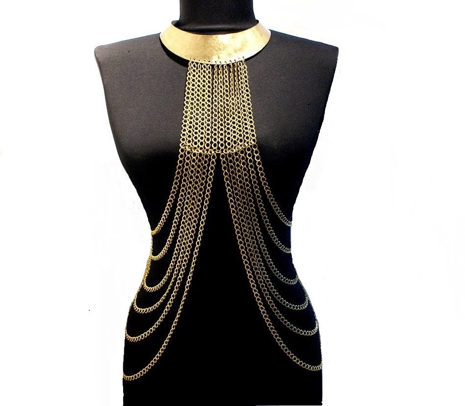Body Chain Necklace  body chain necklace gold body chain necklace gold harness