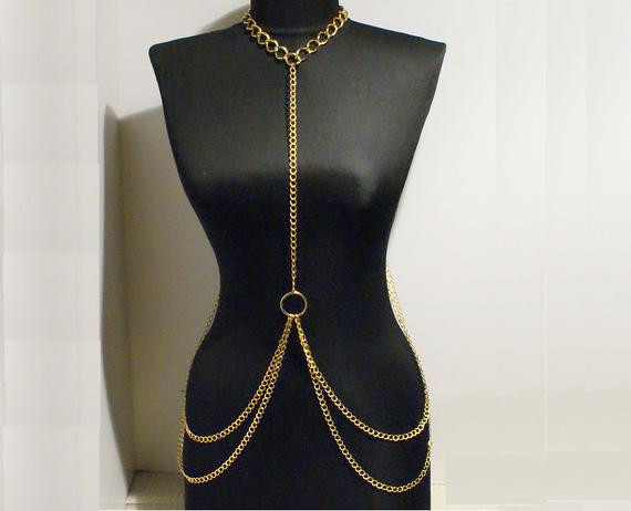 Body Chain Necklace  body chain necklace gold body chain necklace