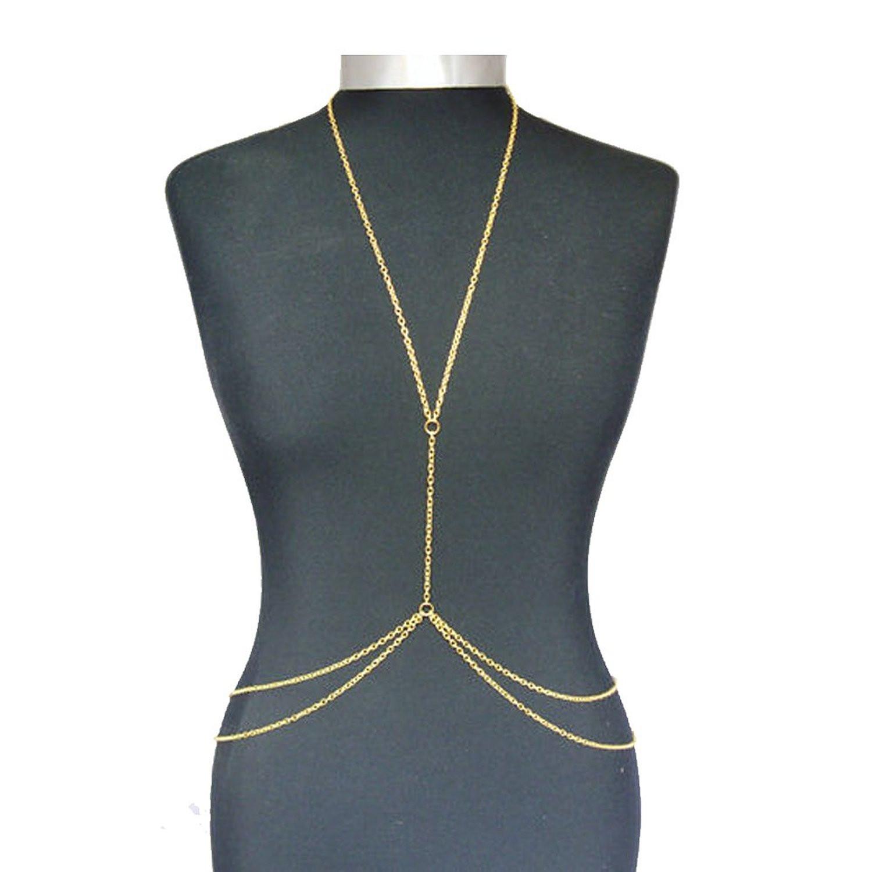 Body Chain Necklace  Amazon Popular Harness Women Bikini Gold Link Beach