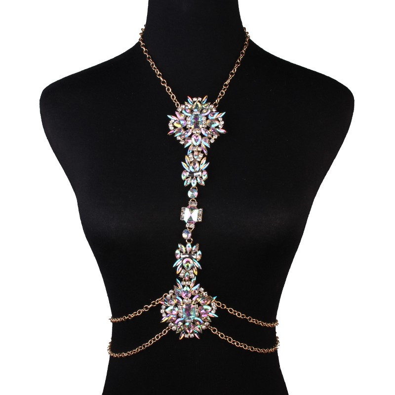 Body Chain Necklace  Exquisite Body Chain Jewelry Statement Chunky Necklace For
