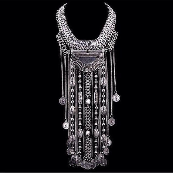 Body Jewelry Coachella  coachella style Silver color Body chain necklace by
