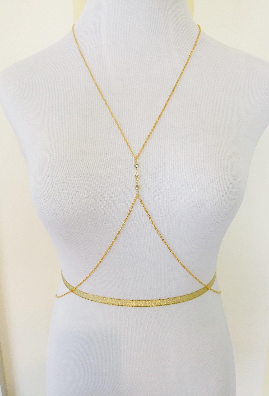 Body Jewelry Diamond  Gold Diamond Stud Body Chain Beach Body Jewelry