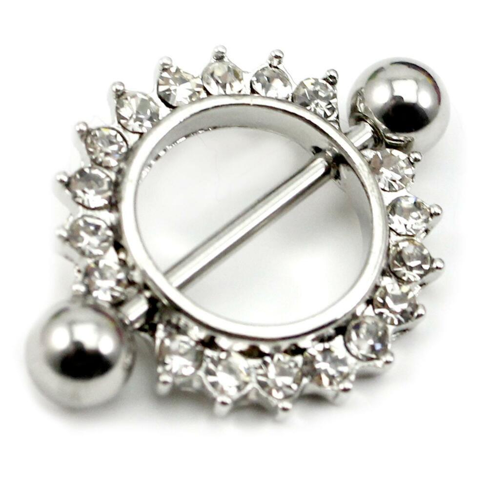 Body Jewelry Diamond  Vogue Diamond Sun Flower Circle Body Piercing Jewelry