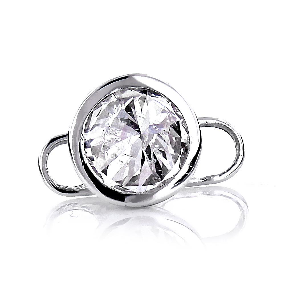 Body Jewelry Diamond  Body Piercing Real 14K Gold Diamond Microdermal Implant