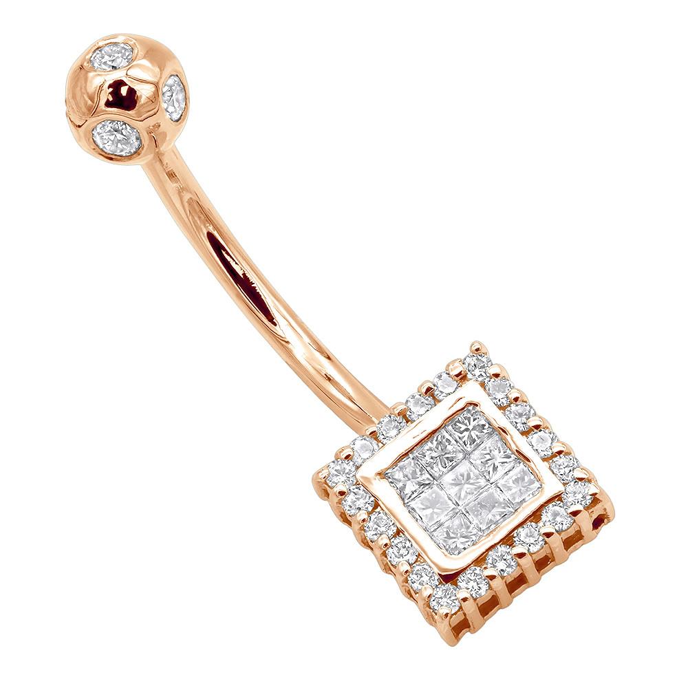 Body Jewelry Diamond  14K Gold Diamond Wholesale Body Jewelry Piece 0 47ct