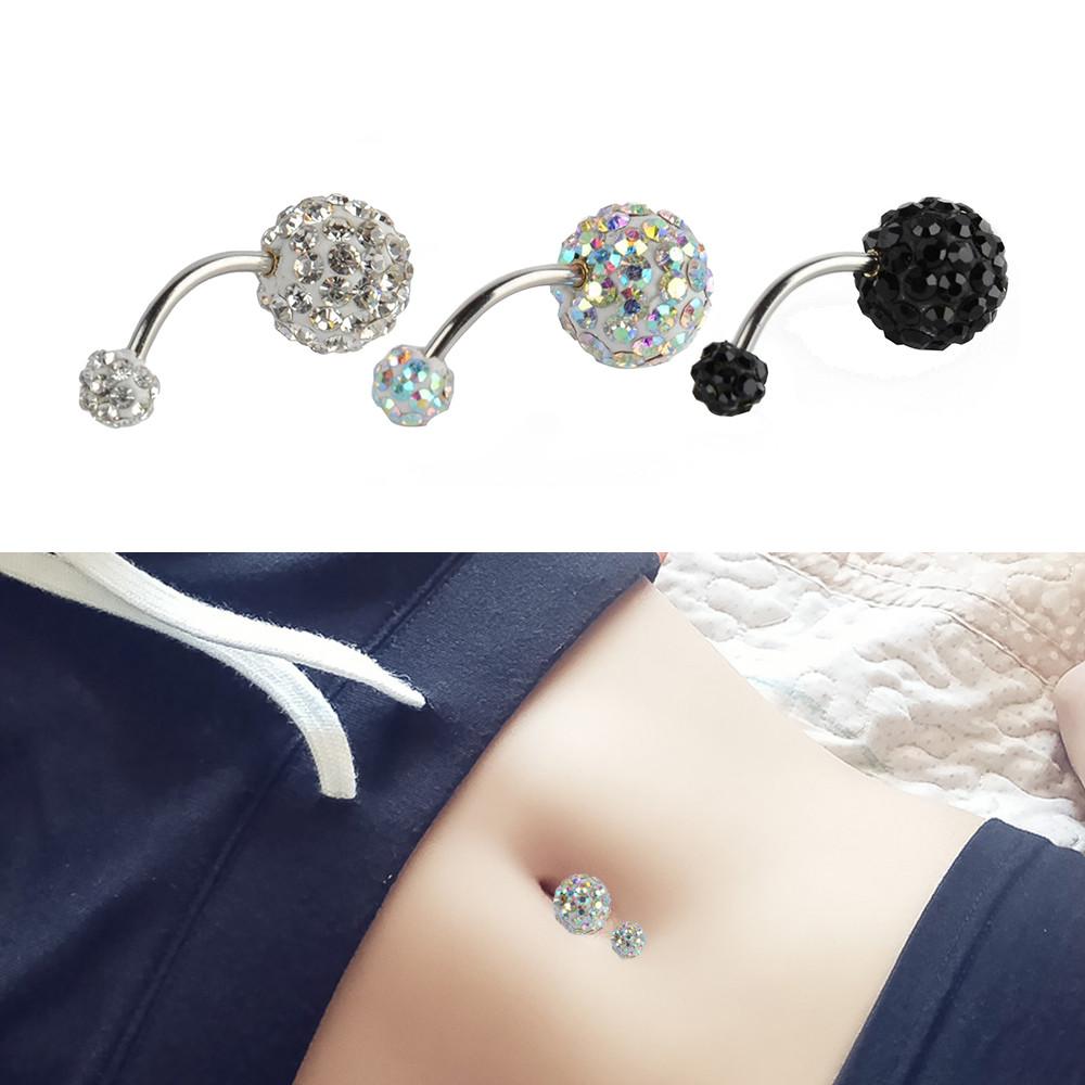 Body Jewelry Diamond  Human Body Piercing Jewelry Full Diamond Cz Belly Button