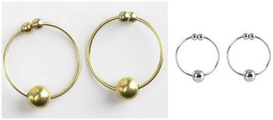 Body Jewelry Fantasy  Fetish Fantasy Series Nipple Bull Rings Gold or Silver Non