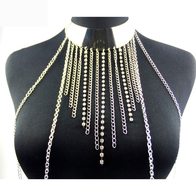 Body Jewelry Outfit  New Fashion e Piece y Tassel Collar Body Chain
