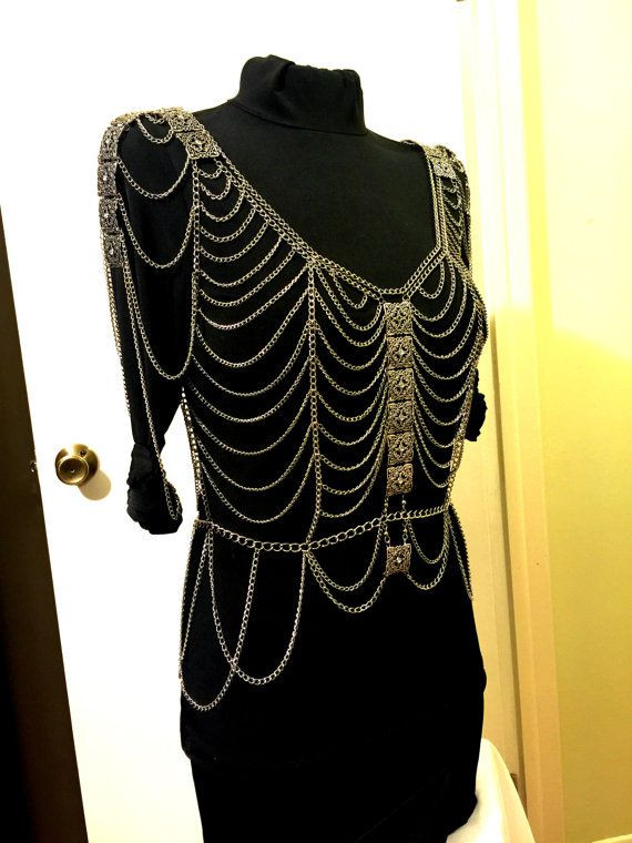 Body Jewelry Over Clothes  Body Chains Top Dress Body Jewelry Top Dress Tank Top