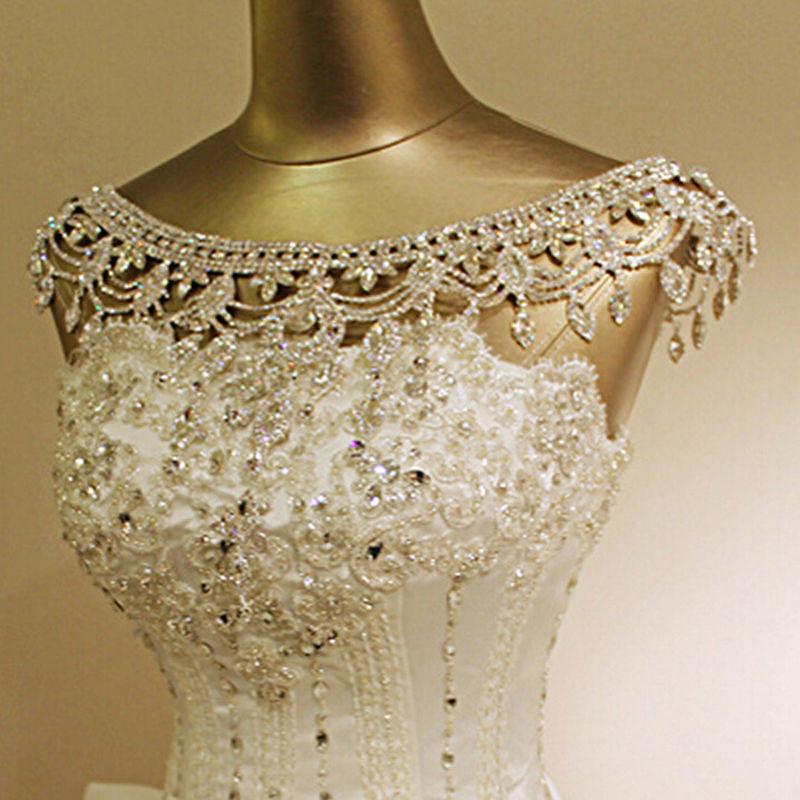 Body Jewelry Shoulder  Crystal Wedding Bridal Rhinestone Shoulder Body Chain