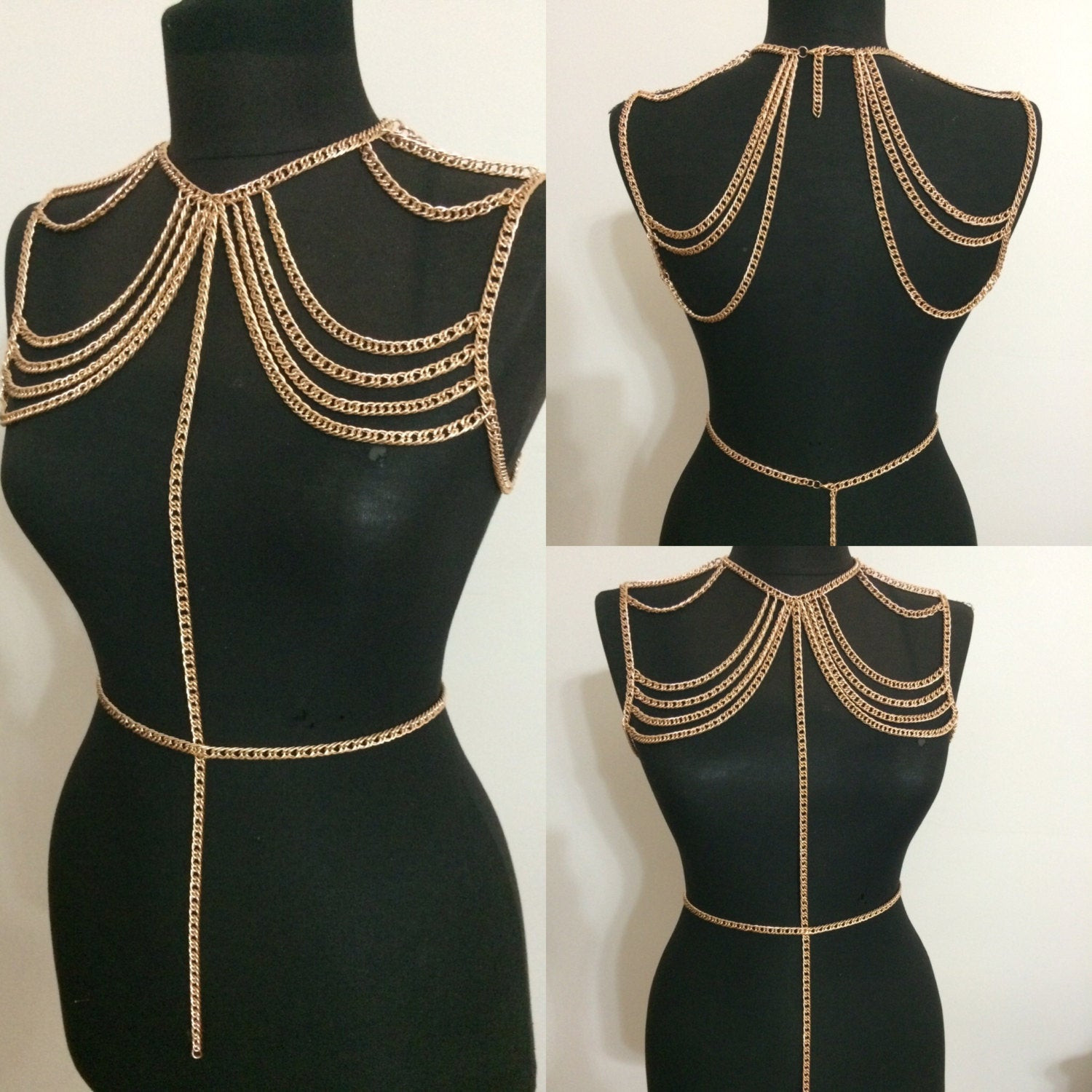 Body Jewelry Shoulder  Rose Gold Body Chain Body Jewelry Shoulder Chain Shoulder