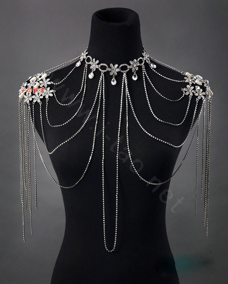 Body Jewelry Shoulder  Buy Wholesale High Quality y Crystal Bridal Necklace