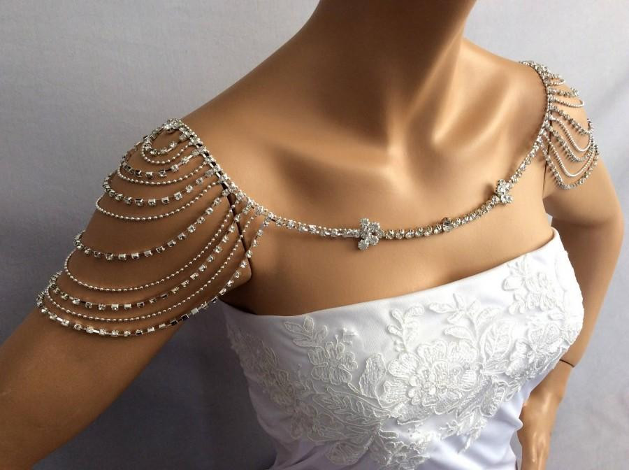 Body Jewelry Shoulder  Wedding Shoulder Jewelry Bridal Shoulder Necklace Bridal