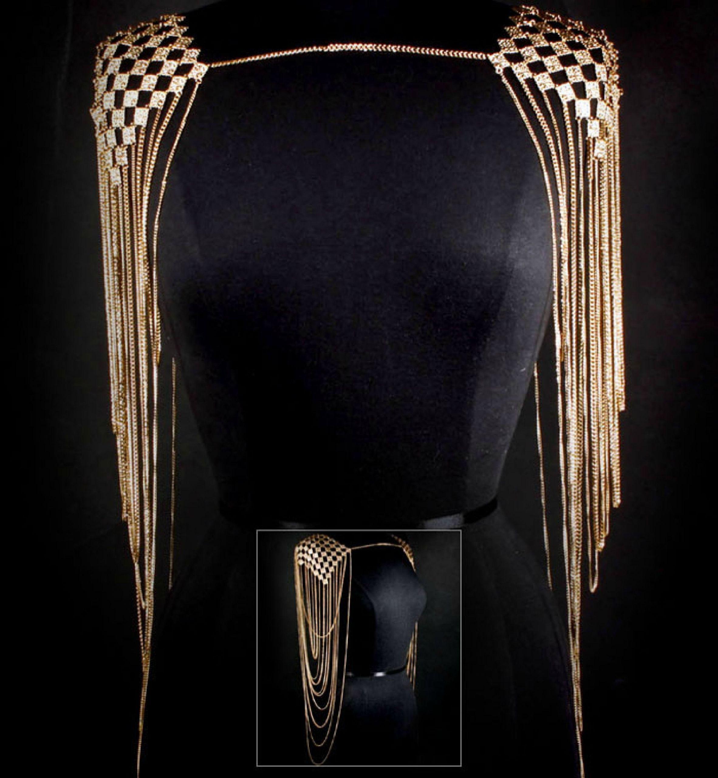 Body Jewelry Shoulder  Glam Rock Body Jewelry Turn a dress into 1920 s Glam