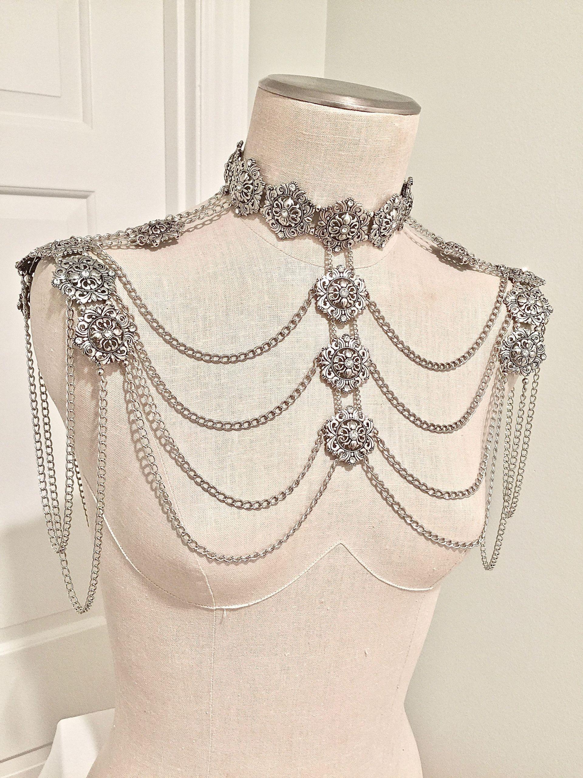Body Jewelry Shoulder  Shoulder Chain Jewelry Choker Shoulder Necklace Body