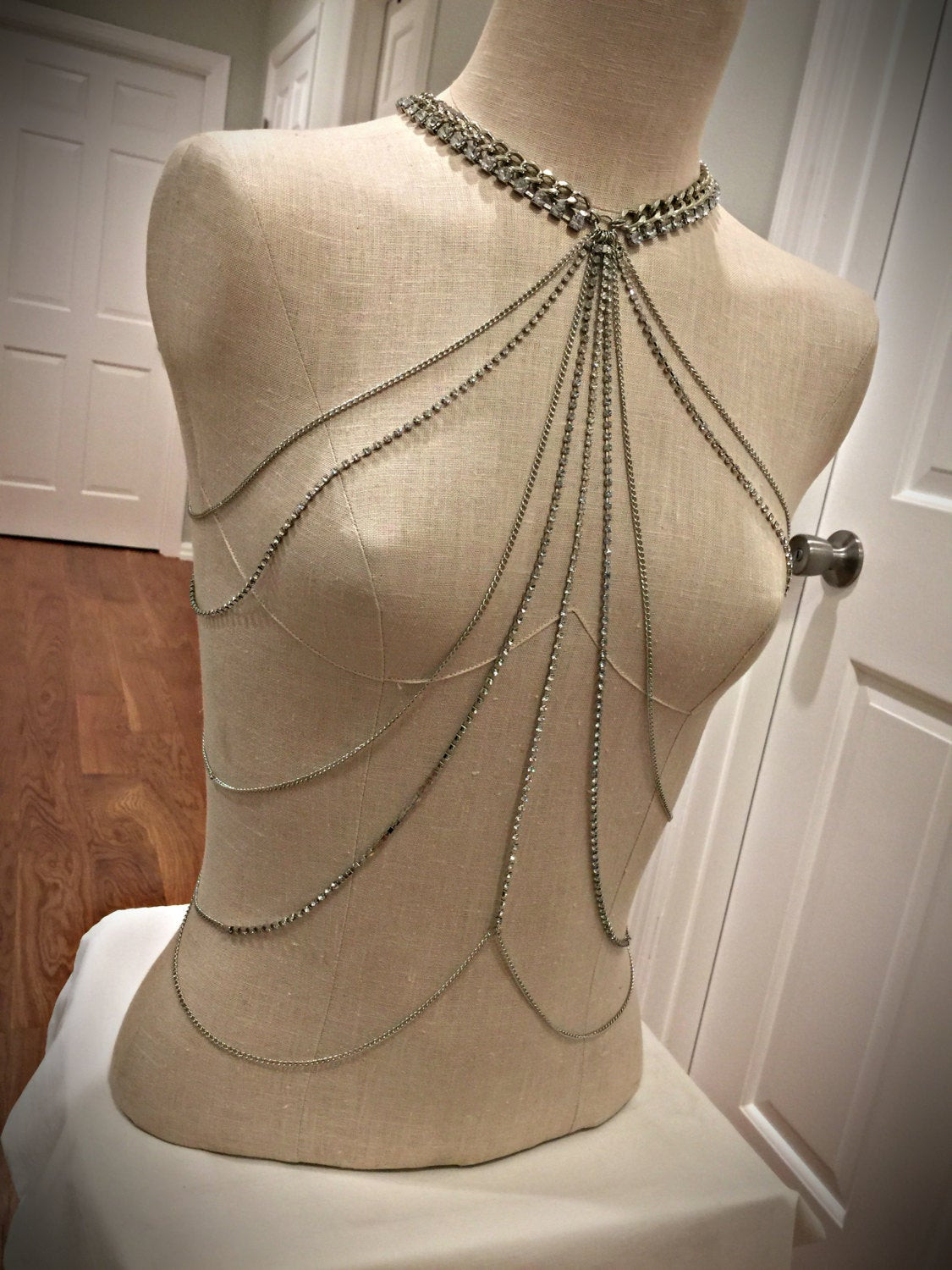 Body Jewelry Shoulder  Shoulder Jewelry Shoulder Chains Body Chains Top by MirelaS
